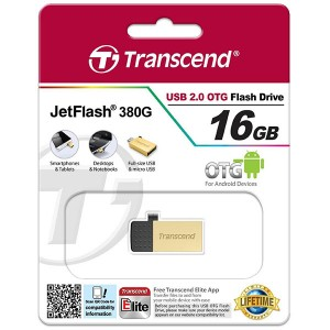 Transcend JetFlash 380G USB 2.0 OTG - 16GB