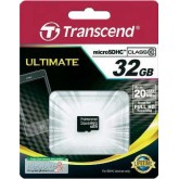 Transcend Ultimate microSDHC Card Class 10 133x - 32GB