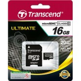 Transcend Ultimate microSDHC Card with Adapter 133x - 16GB