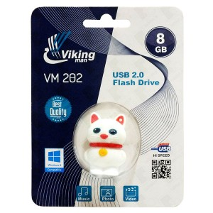 Vikingman VM202 Catty Soft Touch Rubber flash drive USB 2.0 - 8GB