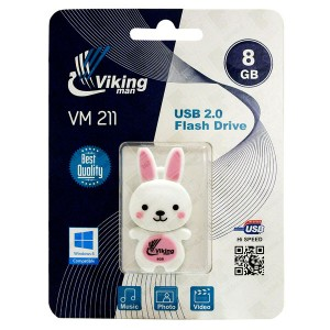 Vikingman VM211 Rabbit Soft Touch Rubber flash drive USB 2.0 - 8GB