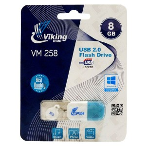 Vikingman VM258 Rubber 2 Color flash drive USB 2.0 - 8GB