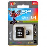 Silicon Power Elite microSDHC Class 10 UHS-I with Adapter - 64GB