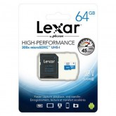 Lexar High Performance microSDXC UHS-I Card with Adapter 300x - 64GB