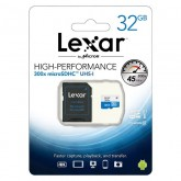 Lexar High Performance microSDXC UHS-I Card with Adapter 300x - 32GB