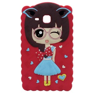 3D Back Cover Japanese Girl for Tablet Samsung Galaxy Tab A 7 SM-T285