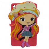 3D Back Cover Strawberry Girl for Tablet Lenovo TAB 3 7 Essential TB3-710