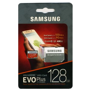 Samsung microSDXC EVO Plus Card with SD Adapter - 128GB