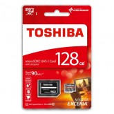 Toshiba Exceria microSDXC UHS-I U3 Card with Adapter - 128GB