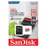 SanDisk Ultra microSDXC UHS-I Card with Adapter 653x - 16GB
