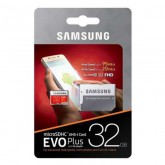 Samsung microSDHC UHS-I EVO Plus Card with SD Adapter - 32GB