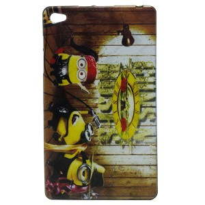 Jelly Back Cover Minions for Tablet Huawei MediaPad M2 801L 8.0