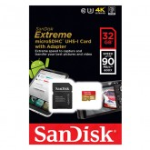 SanDisk Extreme microSDHC UHS-I Card with Adapter 600x - 32GB